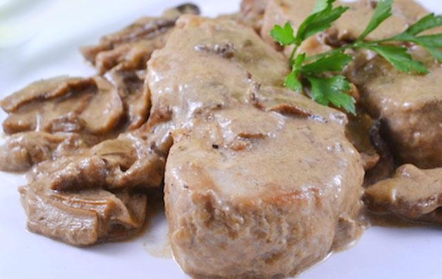 Filet Mignon à la Sauce aux Champignons et au Lait WW
