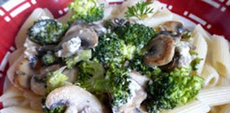 pâtes au brocoli champignons et feta WW