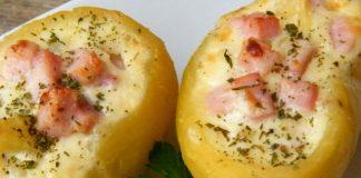 pommes de terre farcies au boursin et jambon WW