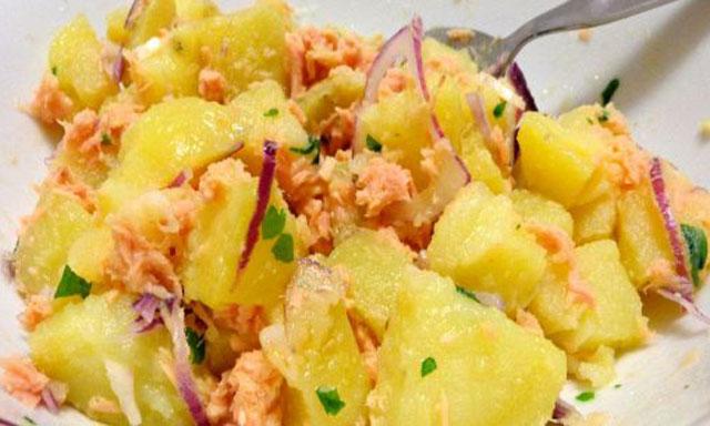 salade de pommes de terre au saumon WW