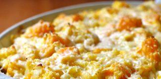 gratin de butternut au Curry WW