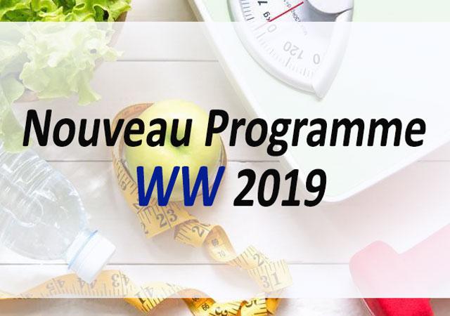 Nouveau programme WW pour 2019