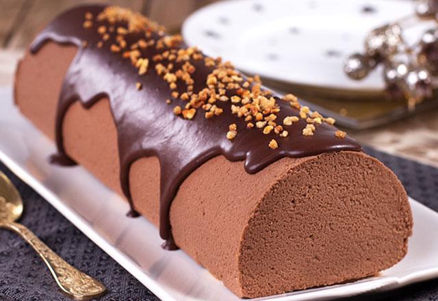 bûche à la mousse au chocolat et Baileys au Thermomix