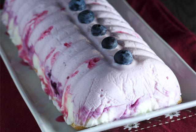 bûche légère au yaourt et myrtilles