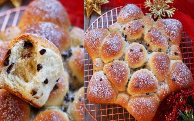 Brioche de Noël aux Pépites de Chocolat au Thermomix