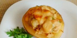 Pommes de Terre Farcies au Thon et Champignons WW
