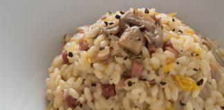 risotto aux champignons / poivrons et jambon ww