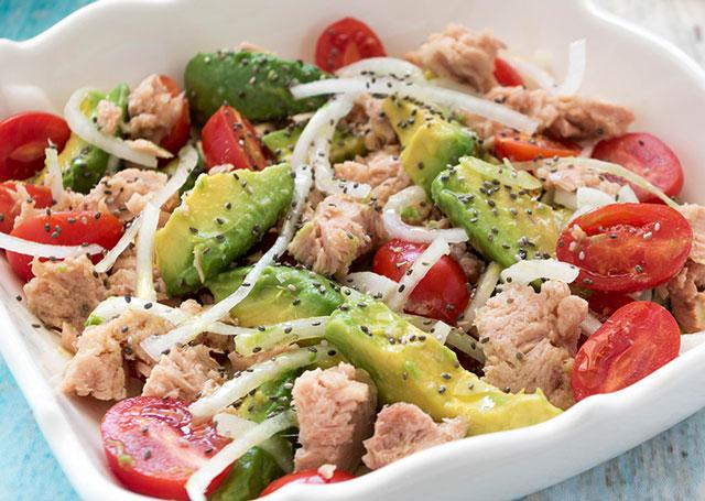 Salade Légère d'Avocat au Thon WW