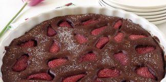 Clafoutis au Chocolat et aux Fraises au Thermomix