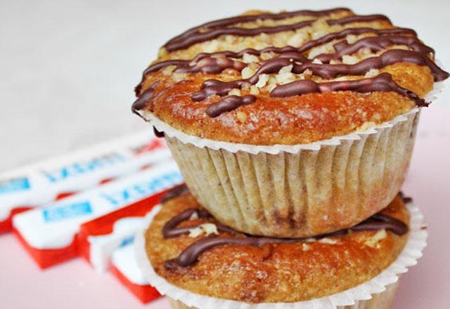 Muffins aux Noisettes et Kinder Maxi au Thermomix