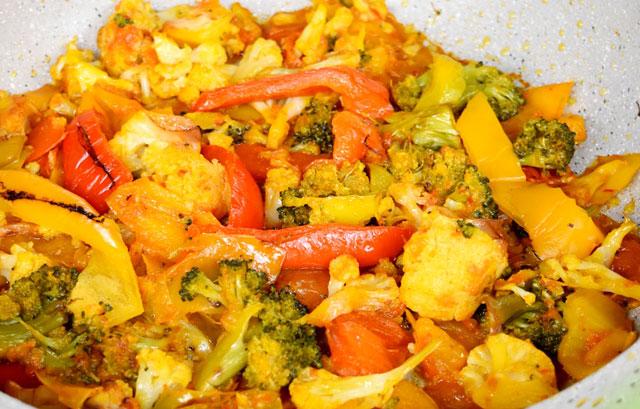 poêlée de légumes au curry WW