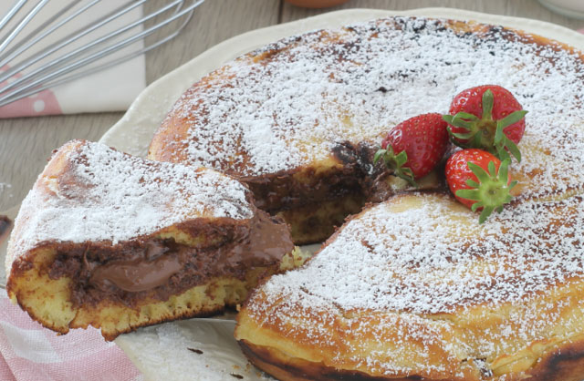 gâteau pancake au nutella au Thermomix