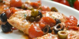 Poulet aux Tomates Cerises et aux Olives WW