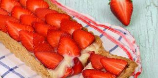 tarte aux fraises et au chocolat blanc au Thermomix