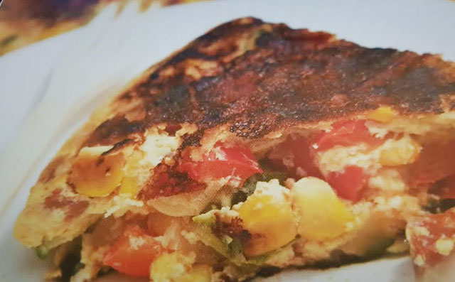 tortilla aux légumes et au chorizo WW