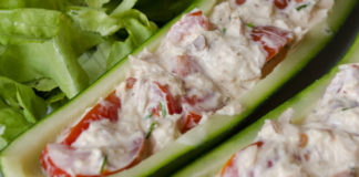 Courgettes Farcies Froides au Thon WW