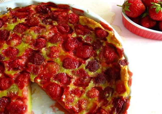 clafoutis de fraises au Thermomix