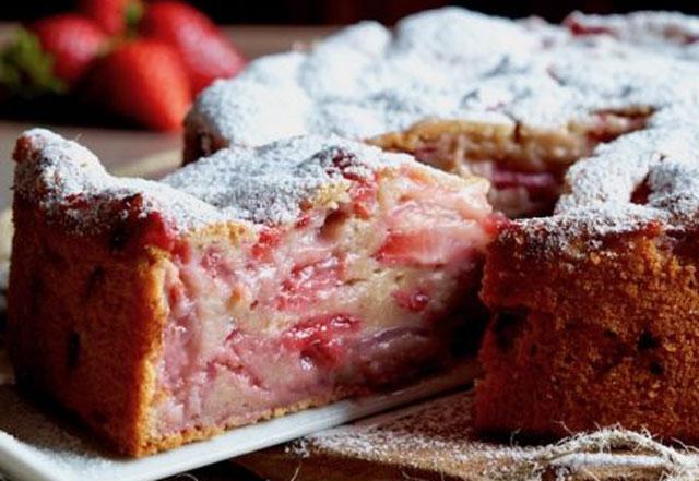 gâteau invisible aux fraises au Thermomix
