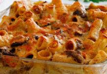 gratin des pâtes aux champignons et chorizo WW