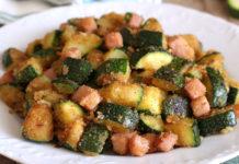 Poêlée de Courgettes au Jambon et au Parmesan WW