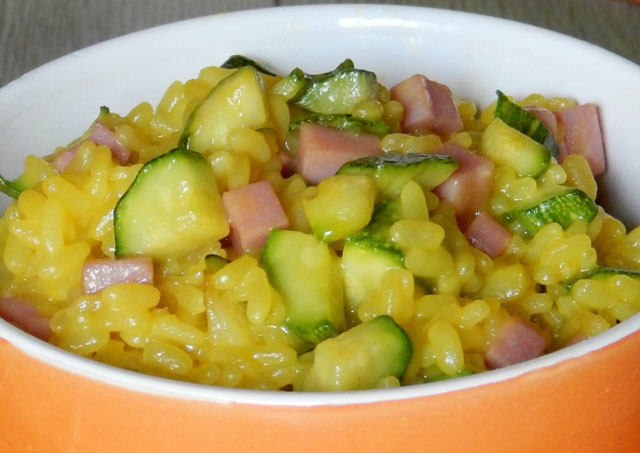 Risotto aux Courgettes / Jambon et Curry WW