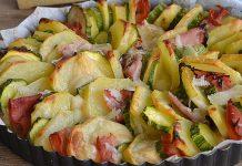 Gratin Léger de Pommes de Terre / Courgettes et Jambon WW