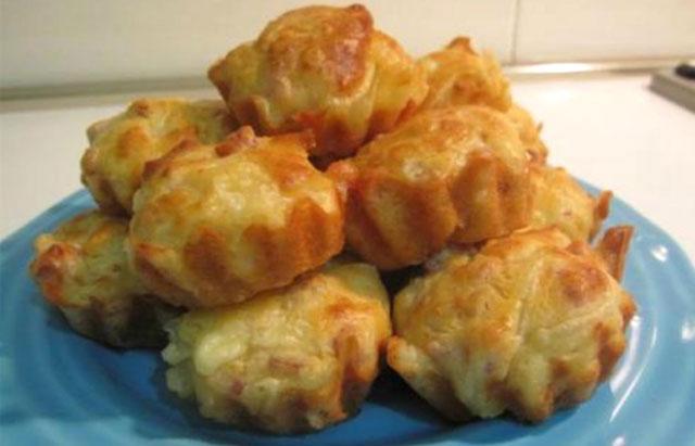 Muffins Légers au Jambon et Oignons WW