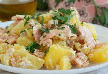 salade de pomme de terre au saumon frais WW