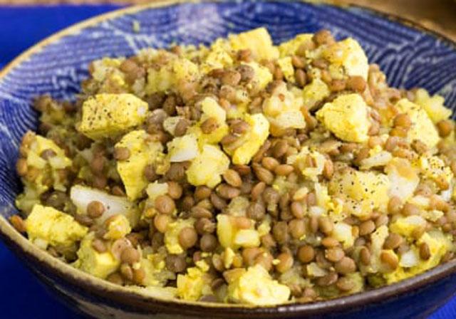 lentilles au curry WW
