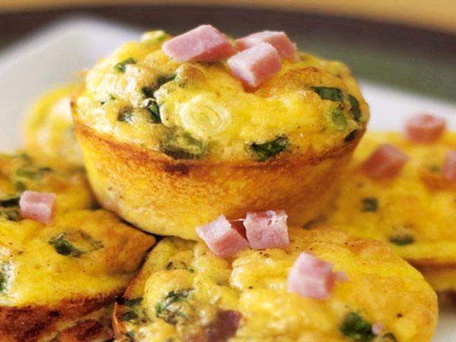 Muffins Légers aux Poireaux et Jambon WW