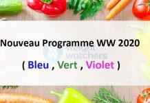 Nouveau Programme WW 2020 ( Bleu, Vert, Violet )