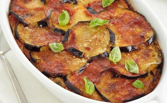 gratin d'aubergines à la sauce tomate WW