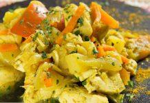 poulet aux légumes et au curry WW