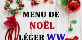 Menu de Noël Léger WW