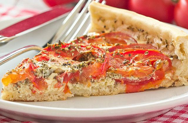 Tarte Légère aux Tomates et Mozzarella WW