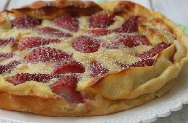 clafoutis aux fraises et au fromage blanc WW