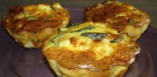 mini-clafoutis légers de courgettes et saumon WW