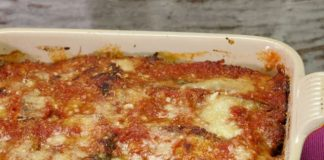 Gratin léger d'aubergine à la viande hachée WW