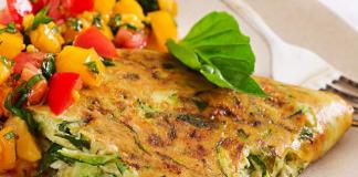 Omelette Légère aux Courgettes et Menthe WW