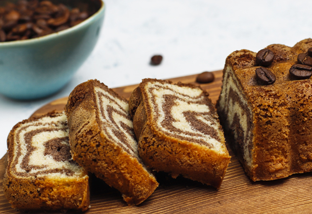 Gâteau Marbré Chocolat Vanille Léger WW