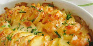 Gratin Léger aux Crevettes et Pommes de Terre WW