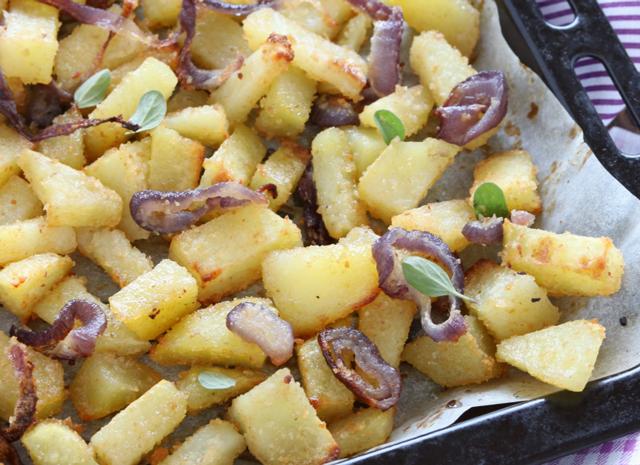 Pommes de Terre et Oignons Gratinées au Four WW