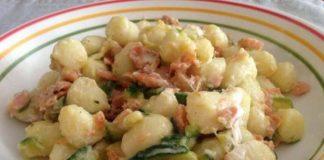 gnocchis aux courgettes saumon et skyr WW