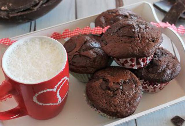 muffins légers aux doubles chocolat WW