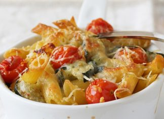 Gratin de Pâtes aux Courgettes et Tomates Cerises WW