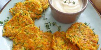 galettes légères aux carottes et courgettes WW