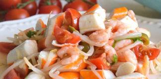 Salade Légère de Surimi et Crevettes WW
