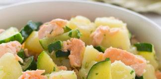 Salade de Pomme de Terre au Saumon et Courgettes WW