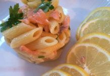 pâtes froide au saumon et citron WW