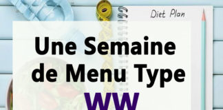 une semaine de menu type WW